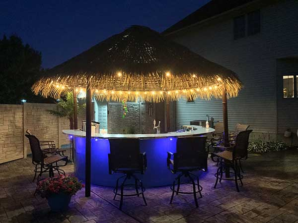 Tiki Hut Kits Our Palapa Are Fabricated From Aluminum Powder Coated And Covered With Palmex Thatch These Can Be