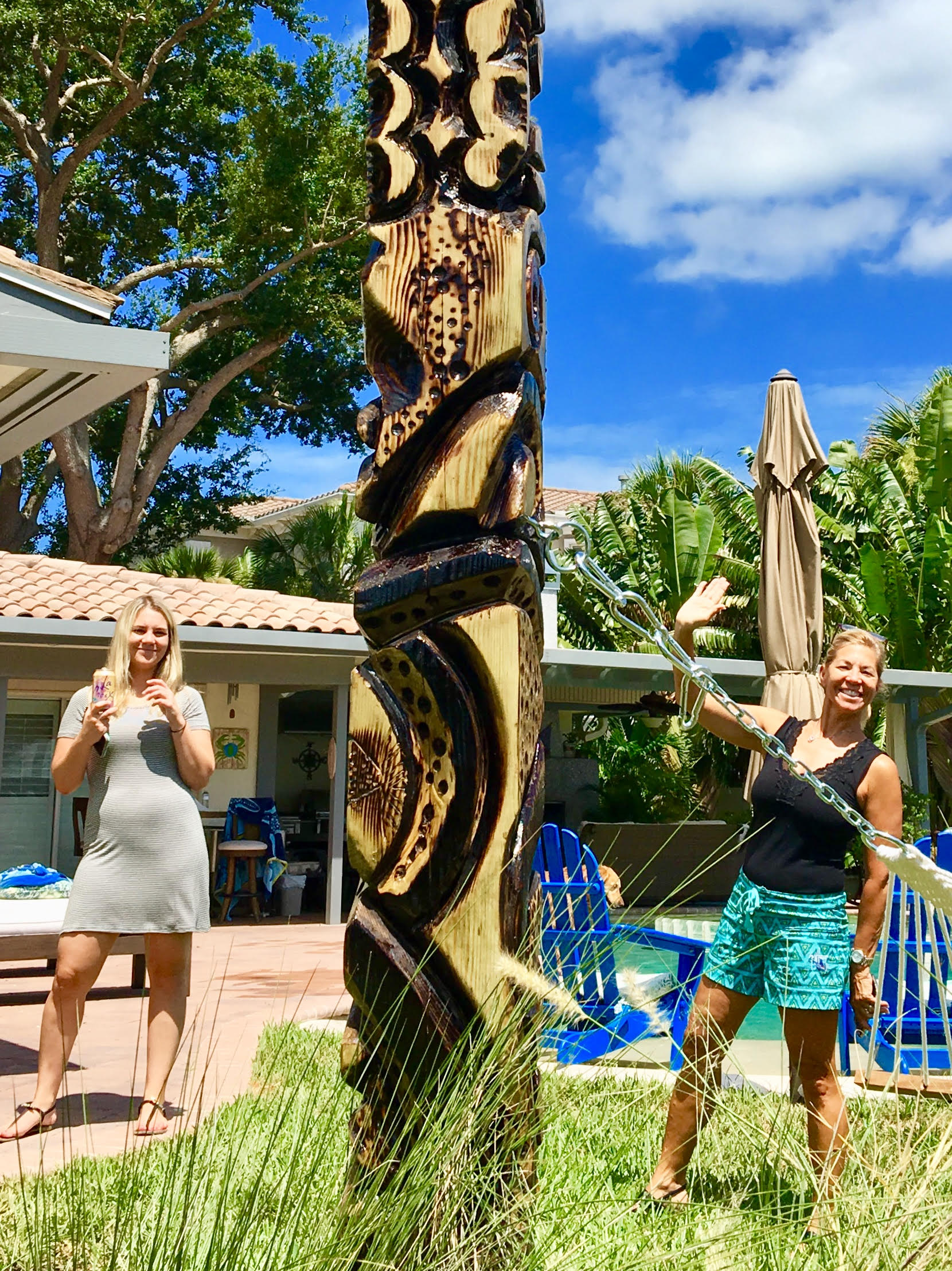 this is susan located at Island Estates Clearwater with her new hammock tiki