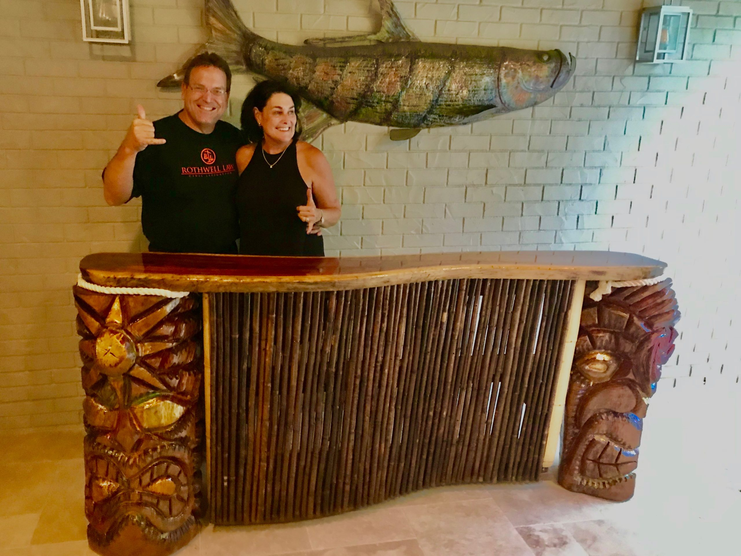 Jeff and Lauren Rothwell from old Northeast are decking out their new custom one-of-a-kind Tiki bar.